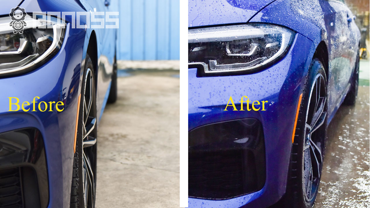 BONOSS-forged-lightweight-plus-wheel-spacers-for-BMW-3series-330i-G20-12mm-before-and-after