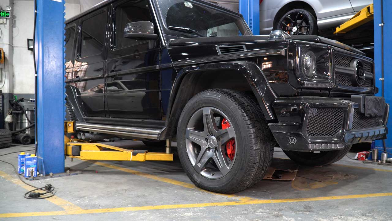 BONOSS Forged Active Cooling Wheel Spacers for Mercedes-Benz G500