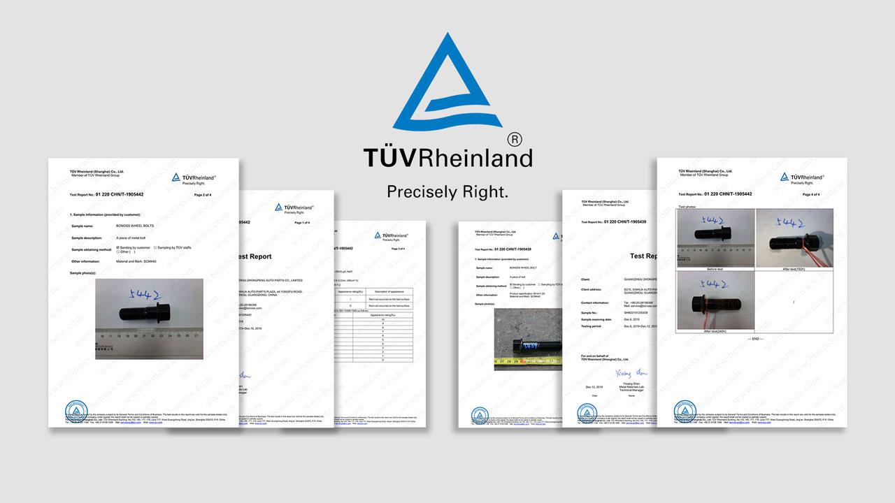 BONOSS-TUV-Certification