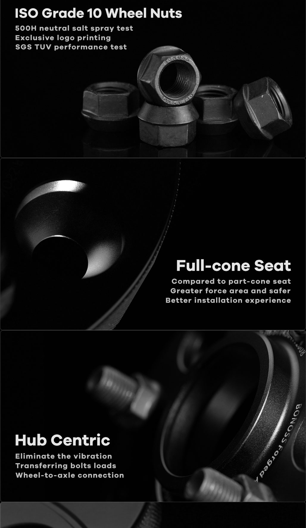 BONOSS Forged Active Cooling Hubcentric Wheel Spacers 5 Lugs Wheel Adapters Active Cooling Design (2)