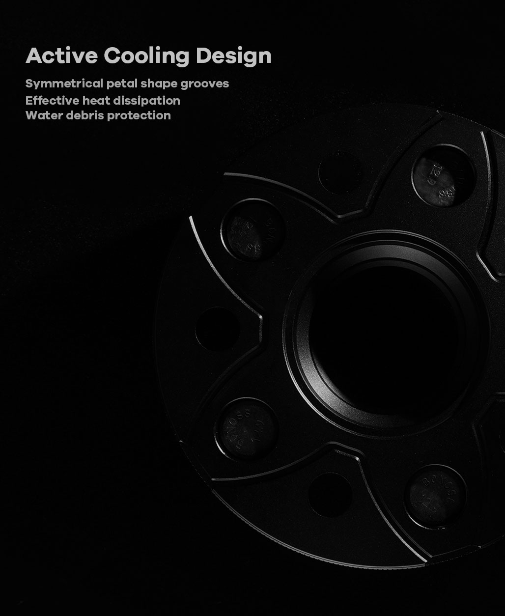 BONOSS Forged Active Cooling Wheel Spacers Hubcentric PCD5x108 CB63.3 for Lincoln Continental (3)