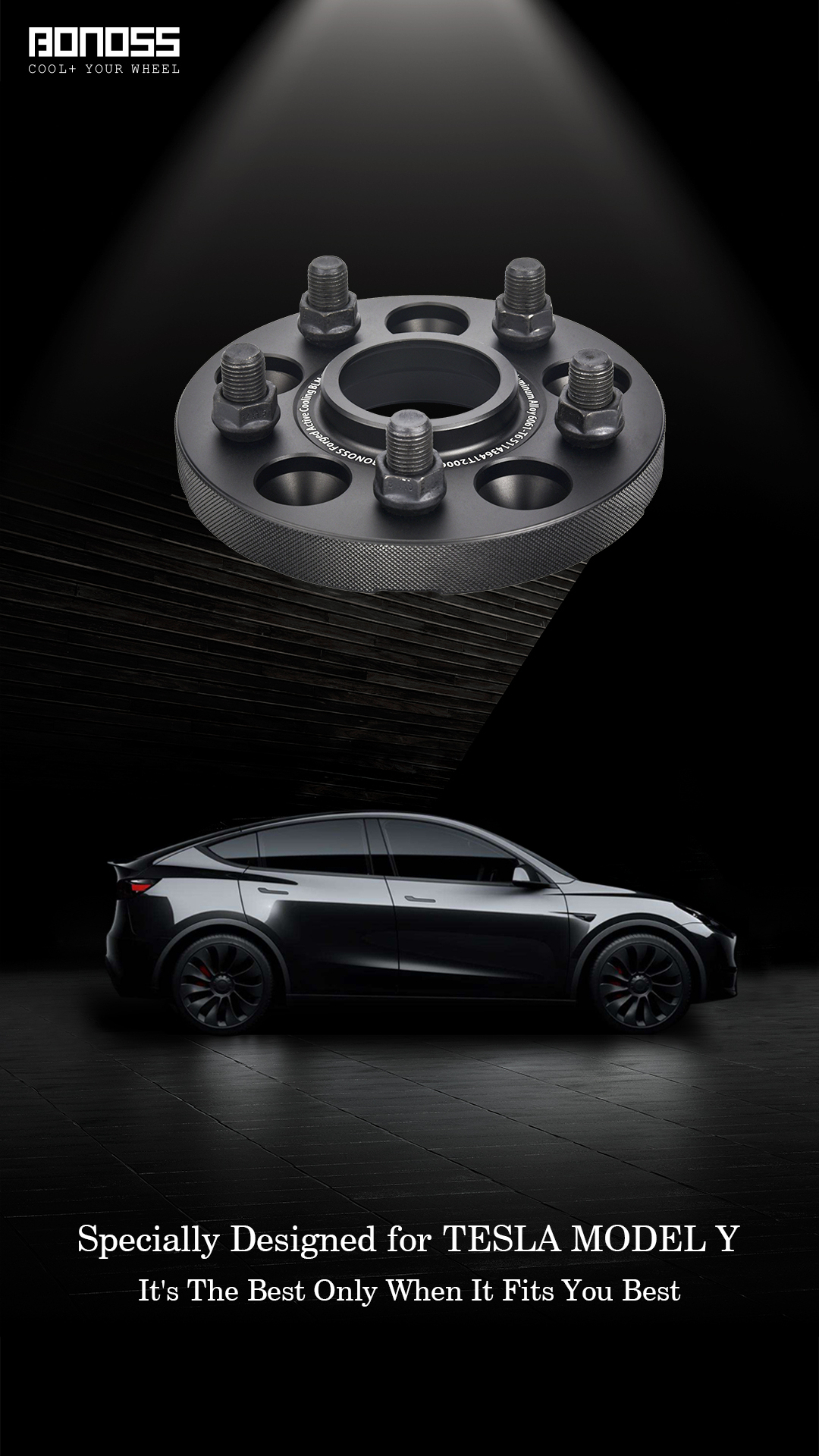 BONOSS Forged Active Cooling Wheel Spacers for Tesla Model Y