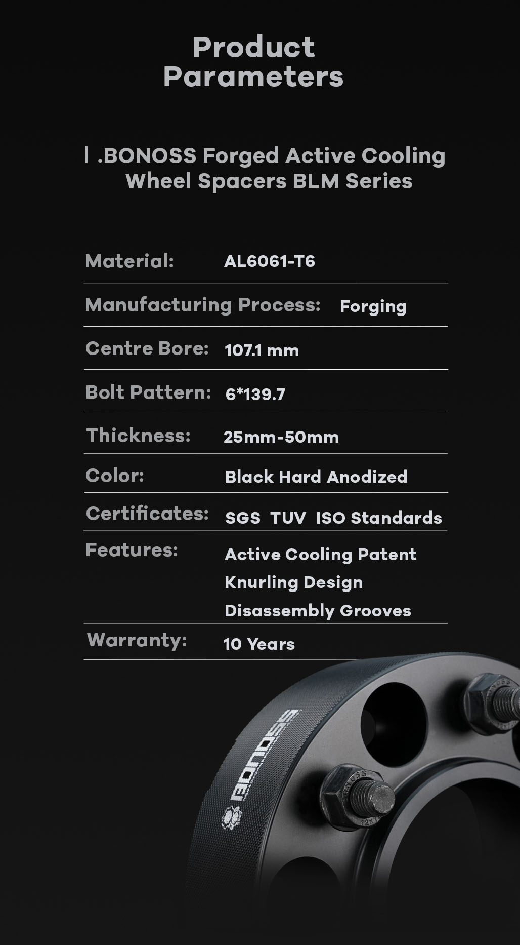 AL6061-T6 BONOSS-forged-active-cooling-wheel-spacer-6X139.7-107.1-M12X1.5-by-lulu-11