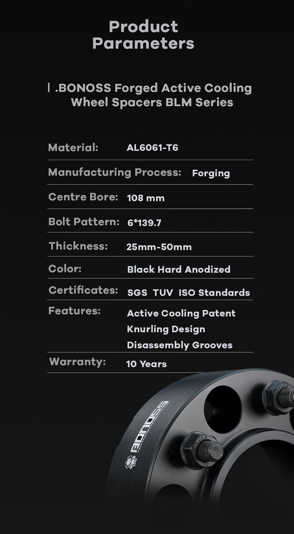 AL6061-T6 BONOSS-forged-active-cooling-wheel-spacer-6X139.7-108-M12X1.5-by-lulu-11