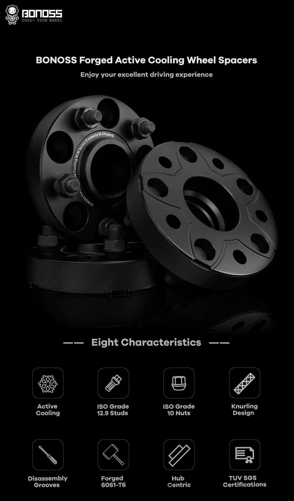 AL6061-t6 BONOSS-forged-active-cooling-wheel-spacer-5x110-by lulu-1