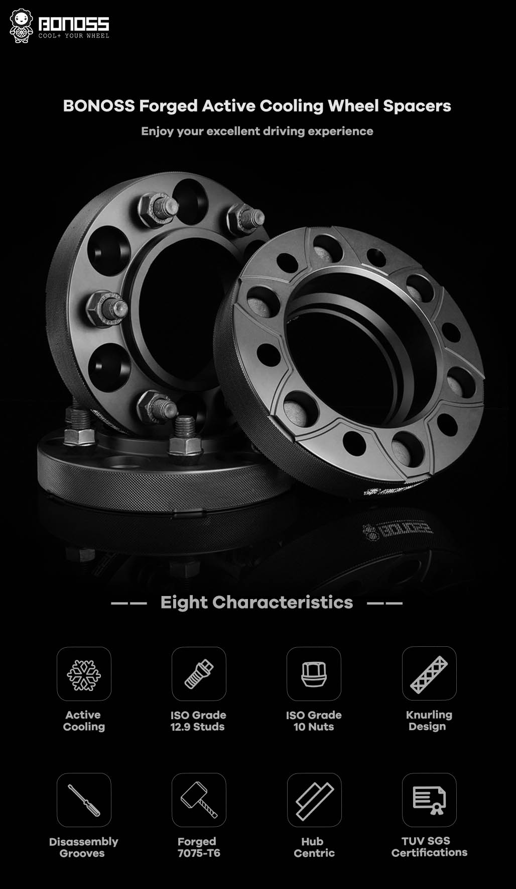 AL7075-T6 BONOSS-forged-active-cooling-wheel-spacer-6X139.7-108-M12X1.5-by-lulu-1