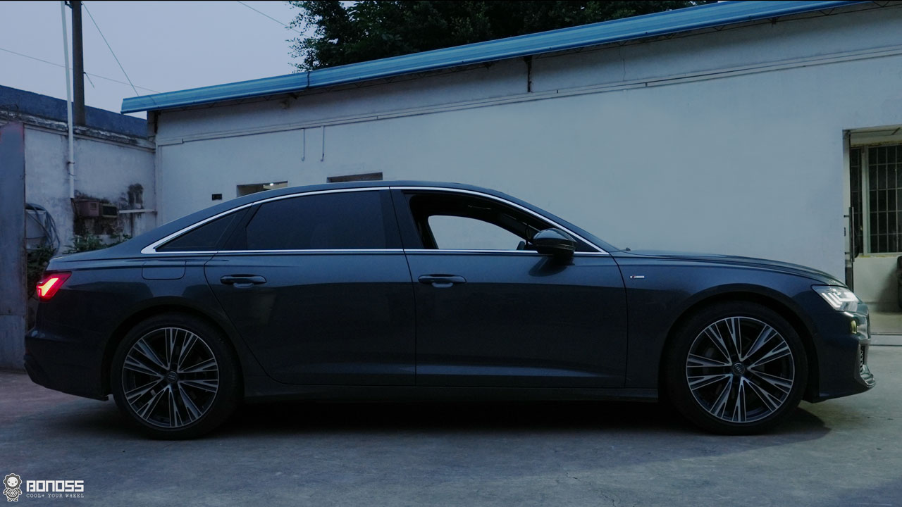 Audi A6 C8 install BONOSS Forged Lightweight Plus Wheel Spacers 12mm+15mm (12)
