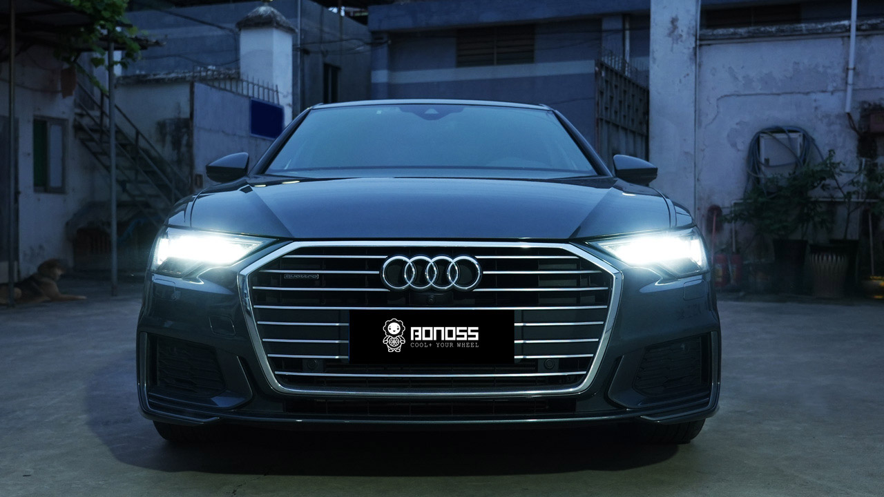 Audi A6 C8 install BONOSS Forged Lightweight Plus Wheel Spacers 12mm+15mm (13)