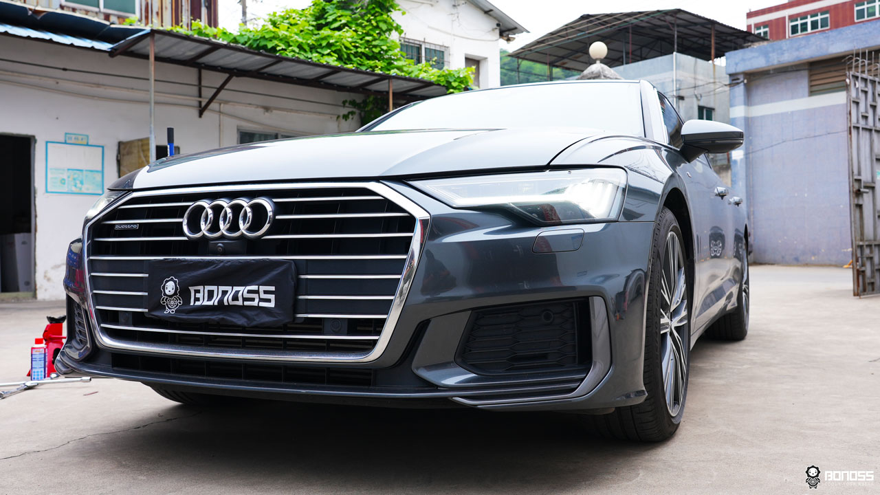 Audi A6 C8 install BONOSS Forged Lightweight Plus Wheel Spacers 12mm+15mm (4)