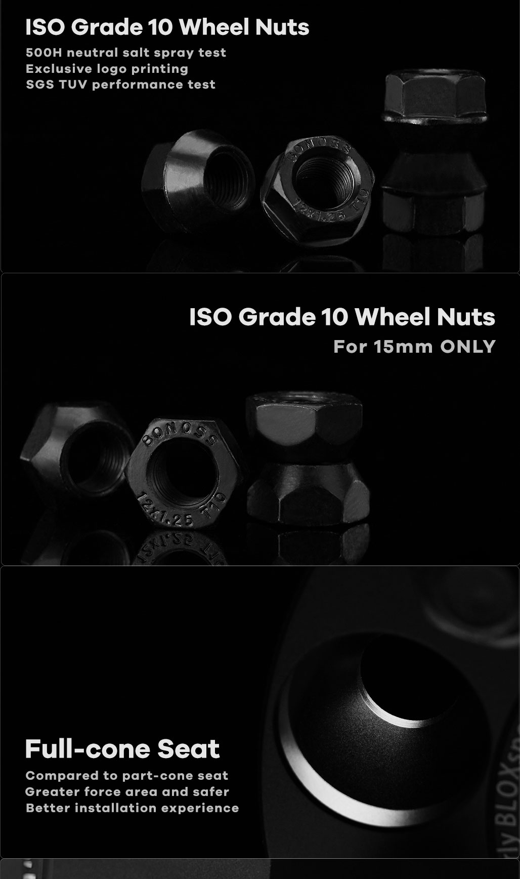 BONOSS Forged Active Cooling Hubcentric Wheel Spacers 4 Lug Wheel Adapters Wheel ET Spacers (3)