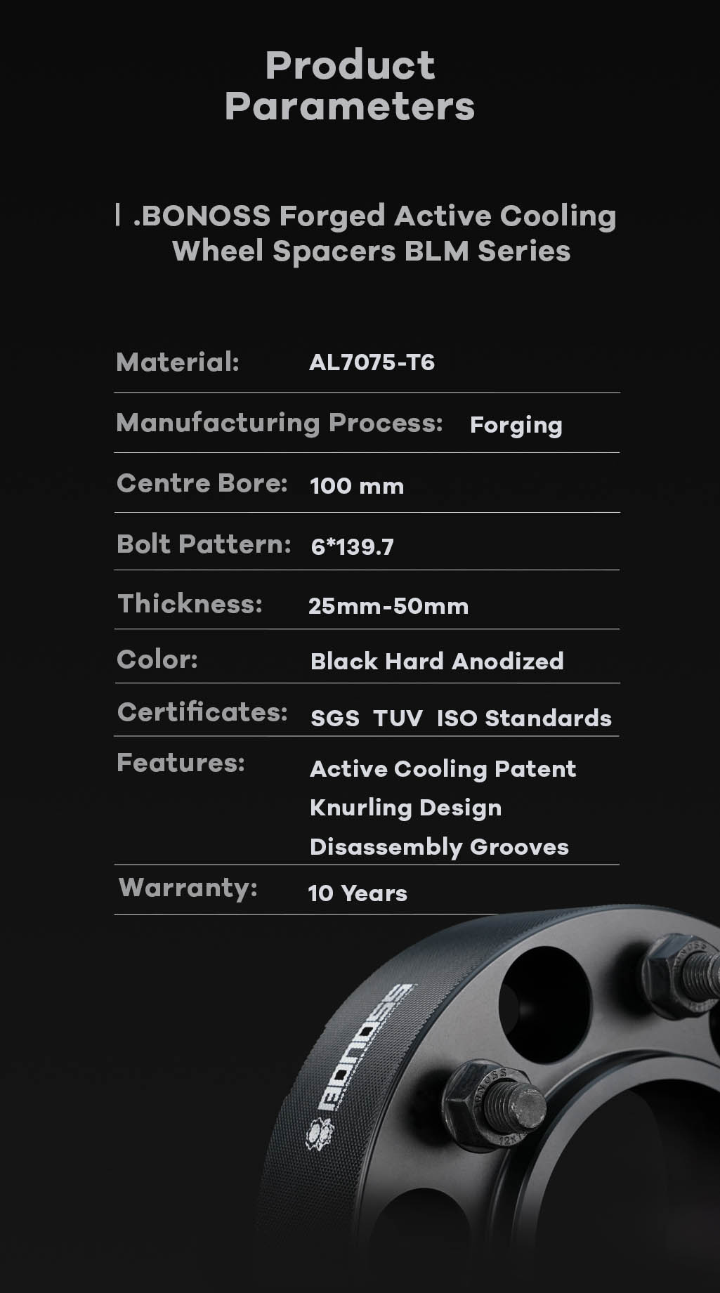 AL7075-T6 BONOSS-forged-active-cooling-wheel-spacer-6X139.7-100-M12X1.5-by-lulu-10