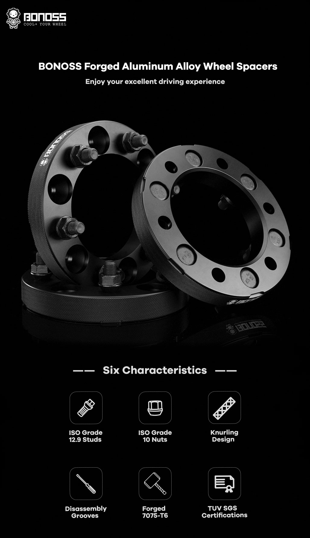 BONOSS-forged-active-cooling-wheel-spacer-for-nissan-Patrol-Y61-6x139.7-110-12x1.25-7075t6-by-grace-1