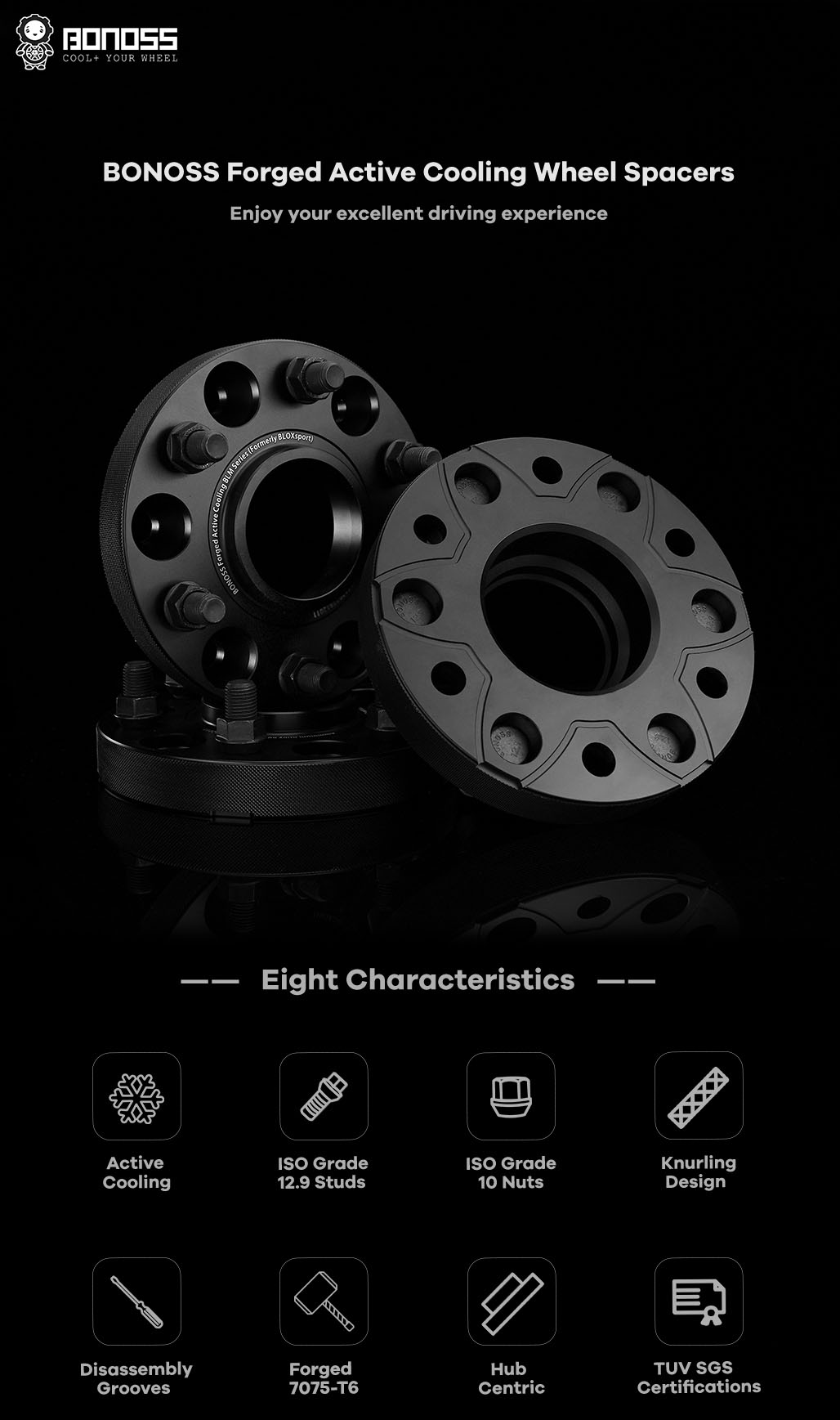 AL7075-T6 BONOSS-forged-active-cooling-wheel-spacer-6X127-78.1-M12X1.5-by-lulu-1