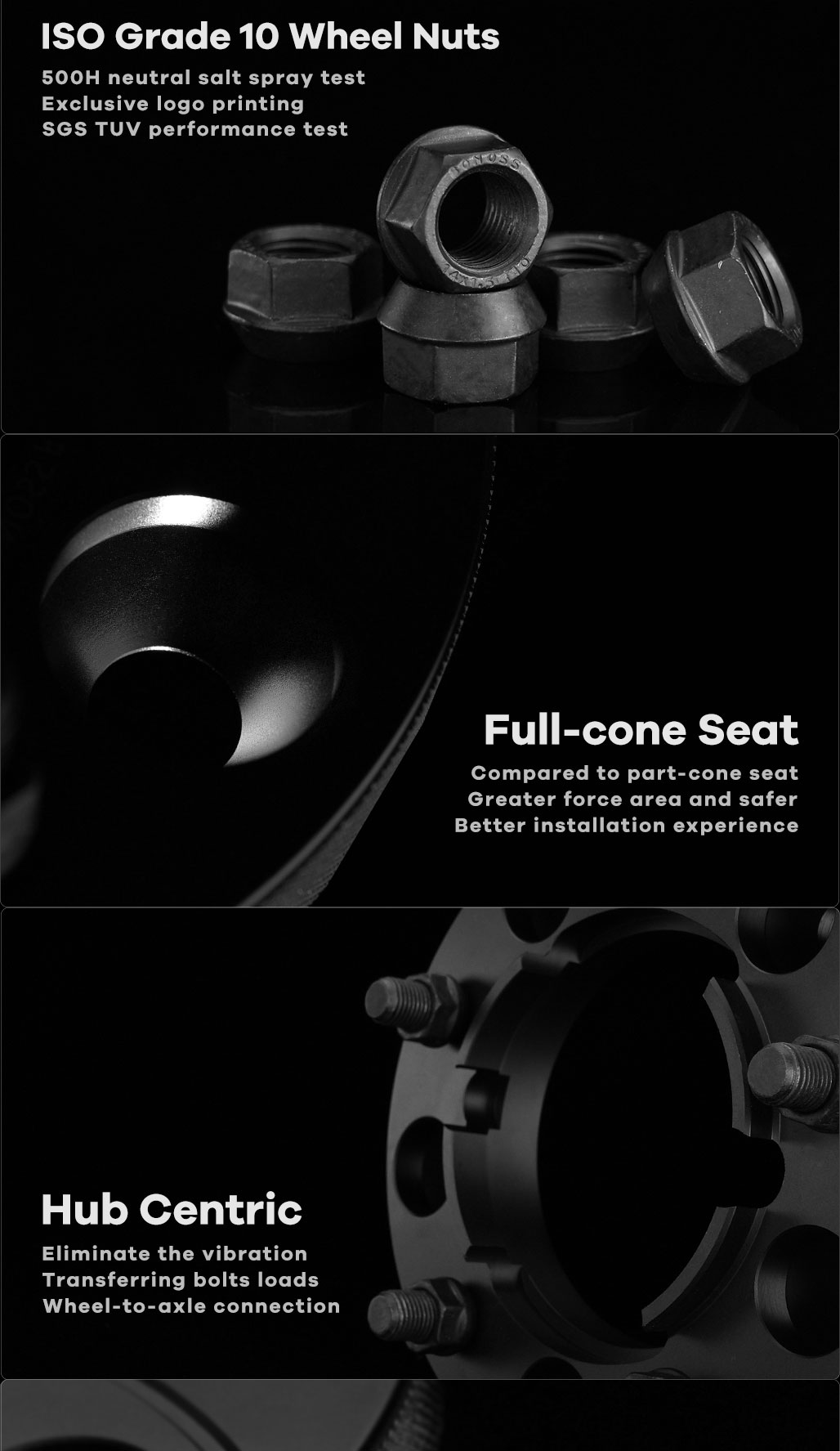 BONOSS Forged Active Cooling Special Hubcentric Wheel Spacers 5 Lugs Wheel Adapters Wheel ET Spacers (2)