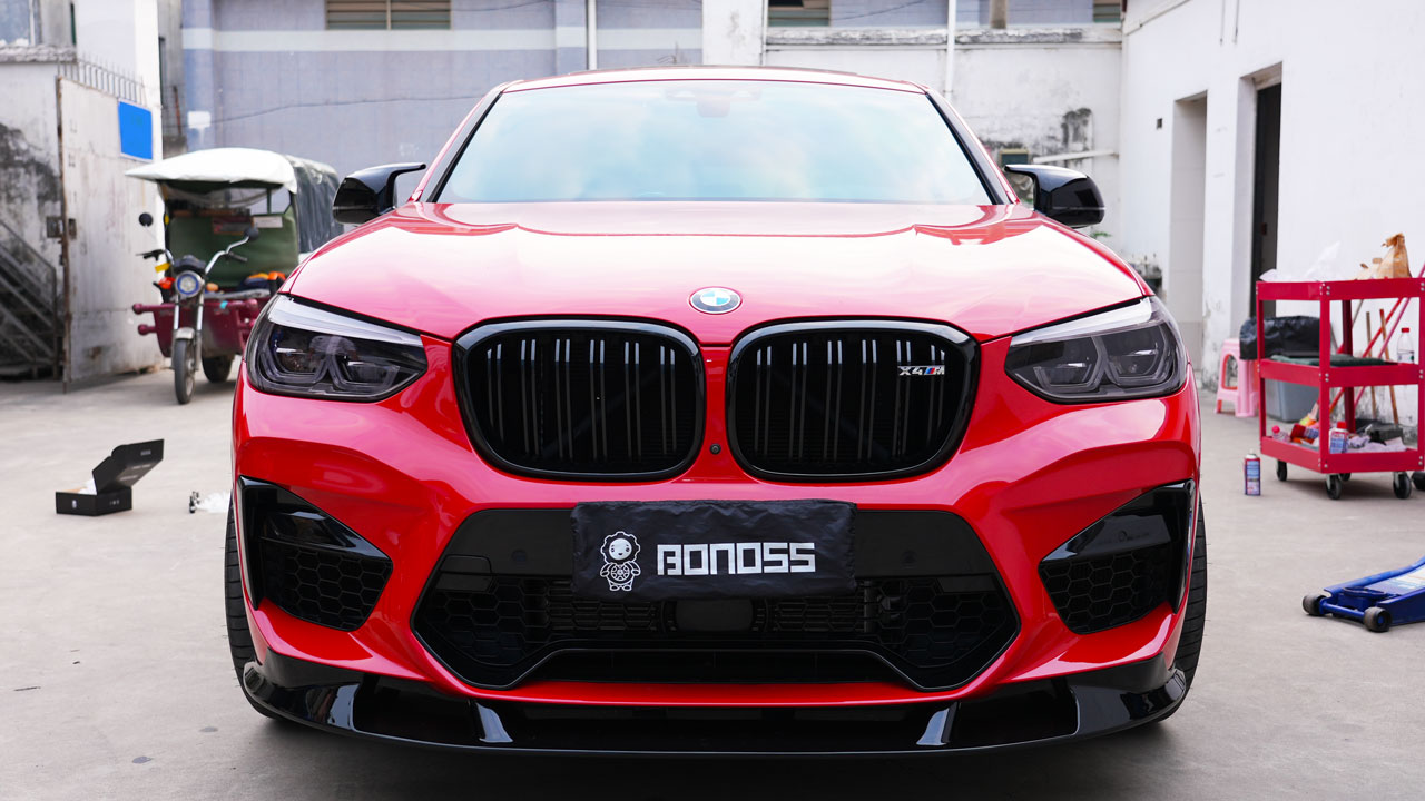 BONOSS Forged Titanium Lock Wheel Bolts 1100 Series install on BMW X4M (2)