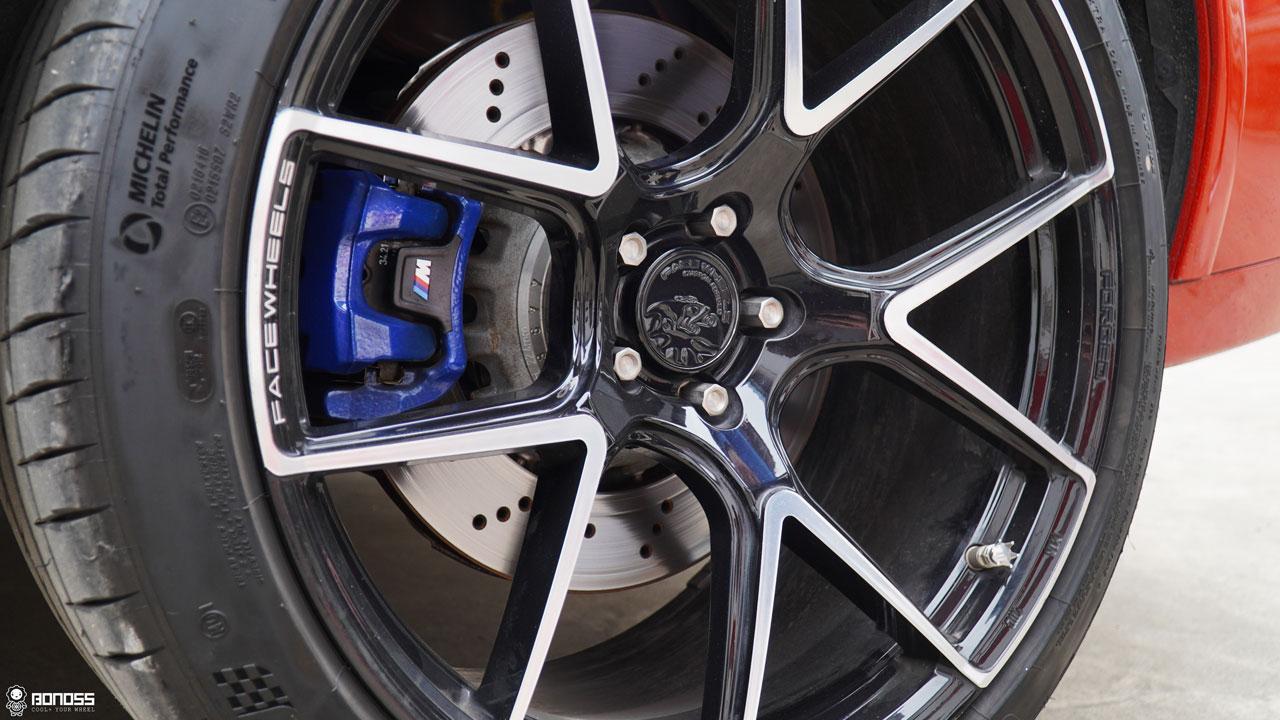 BONOSS Forged Titanium Lock Wheel Bolts 1100 Series install on BMW X4M (3)