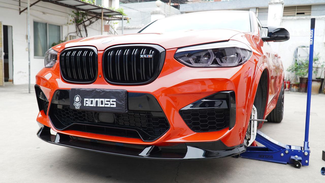BONOSS Forged Titanium Lock Wheel Bolts 1100 Series install on BMW X4M (8)