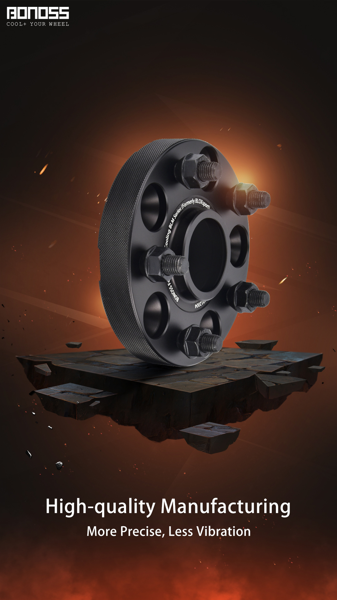 High-quality Manufacturing for Wheel Spacers Safety BONOSS Hubcentric Wheel Spacers