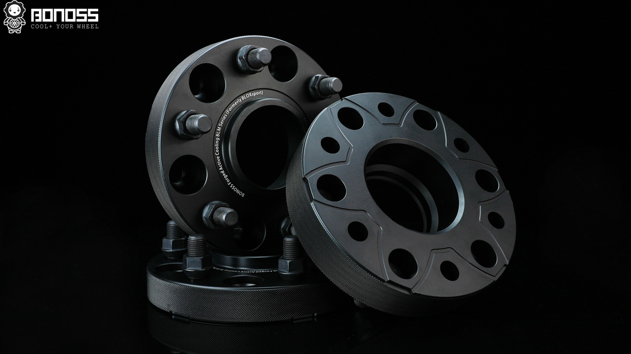 BONOSS Forged Active Cooling 6 lug Wheel Spacers Wide Tread Spacer Aluminum Car Wheel Spacer