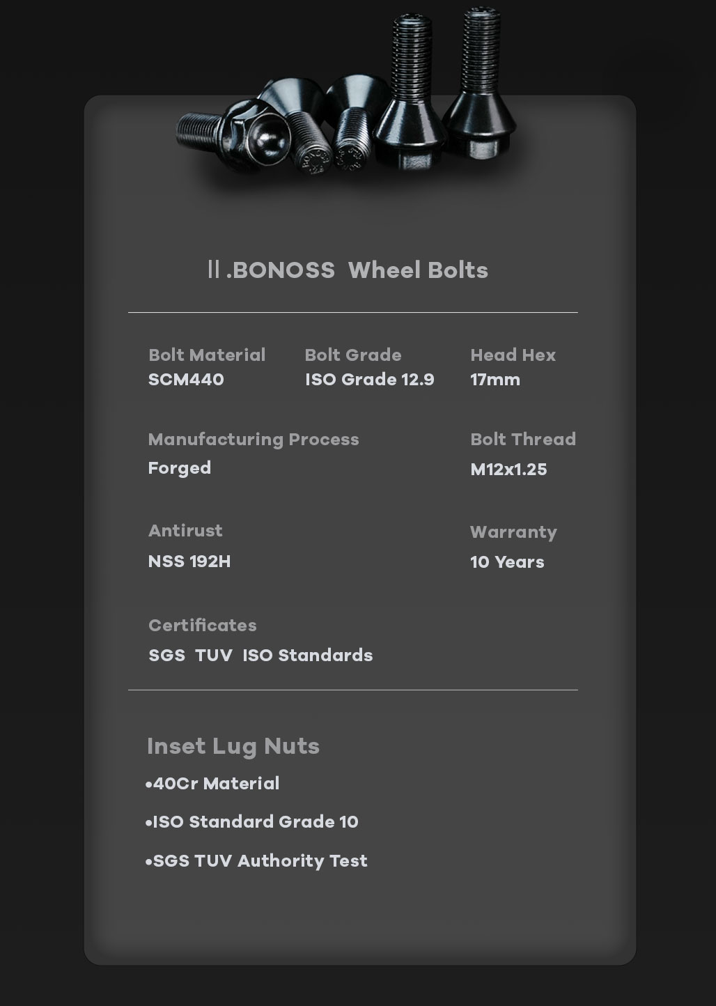 BONOSS Forged Active Cooling Hubcentric Wheel Spacers 5 Lugs Wheel Adapters M12x1.25 Wheel Bolts
