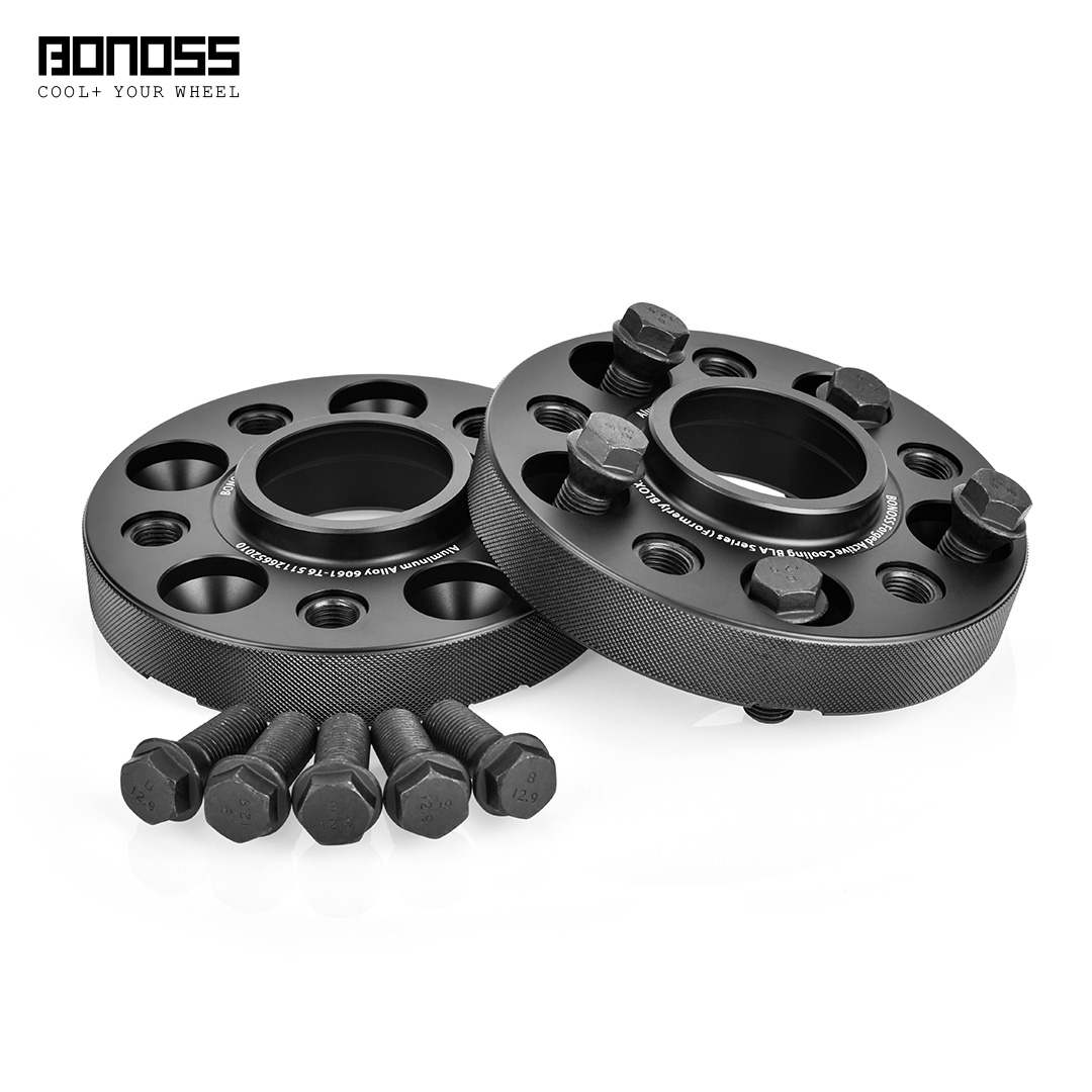 BONOSS Forged Active Cooling Hubcentric Wheel Spacers 5 Lugs Wheel Adapters Spurverbreiterungen Aluminum Wheel Spacers (2)
