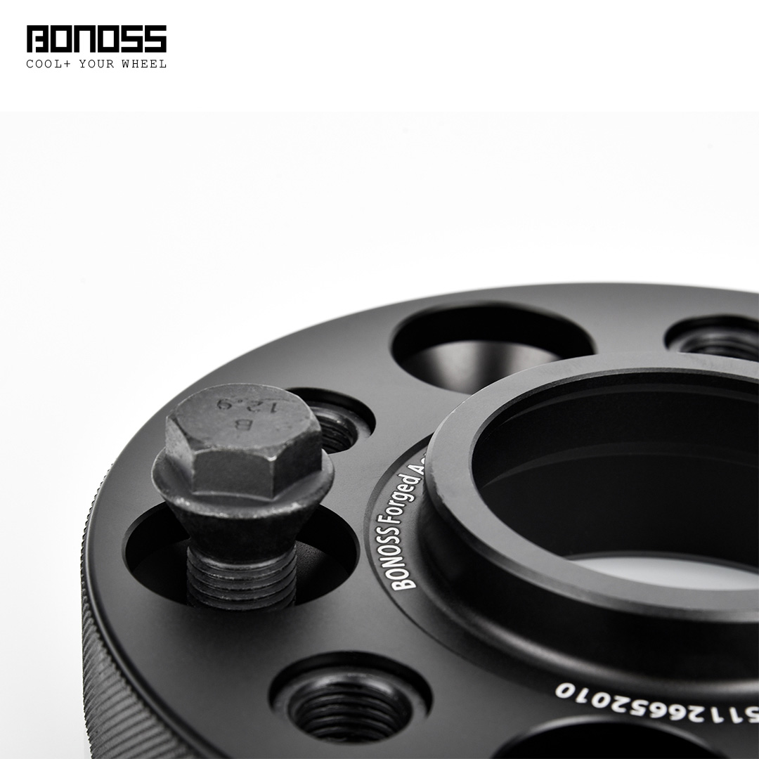 BONOSS Forged Active Cooling Hubcentric Wheel Spacers 5 Lugs Wheel Adapters Spurverbreiterungen Aluminum Wheel Spacers (3)
