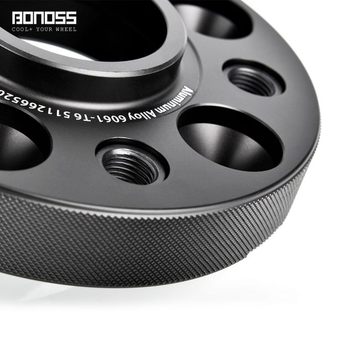BONOSS Forged Active Cooling Hubcentric Wheel Spacers 5 Lugs Wheel Adapters Spurverbreiterungen Aluminum Wheel Spacers (4)