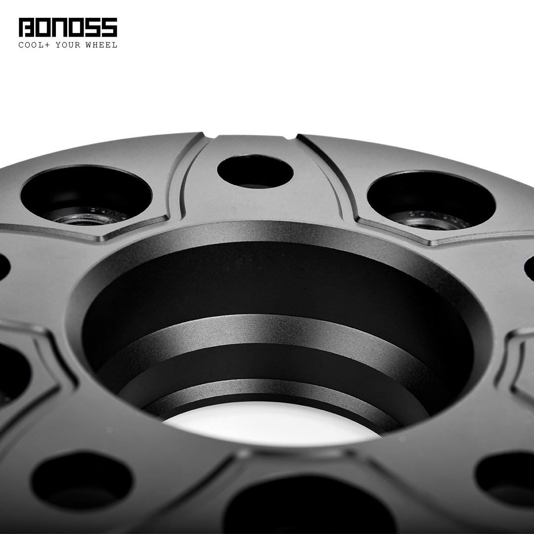 BONOSS Forged Active Cooling Hubcentric Wheel Spacers 5 Lugs Wheel Adapters Spurverbreiterungen Aluminum Wheel Spacers (7)