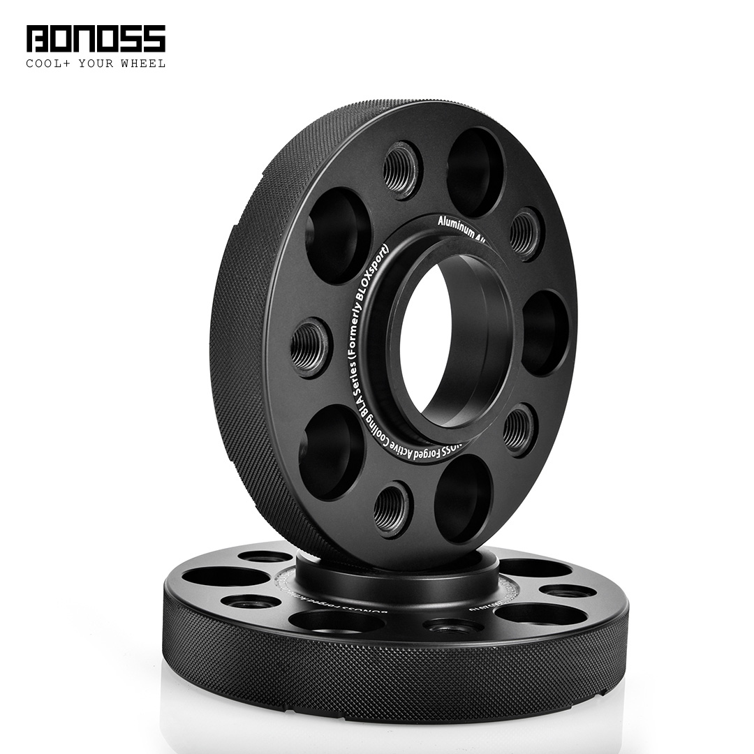BONOSS Forged Active Cooling Hubcentric Wheel Spacers 5 Lugs Wheel Adapters Spurverbreiterungen Aluminum Wheel Spacers (8)