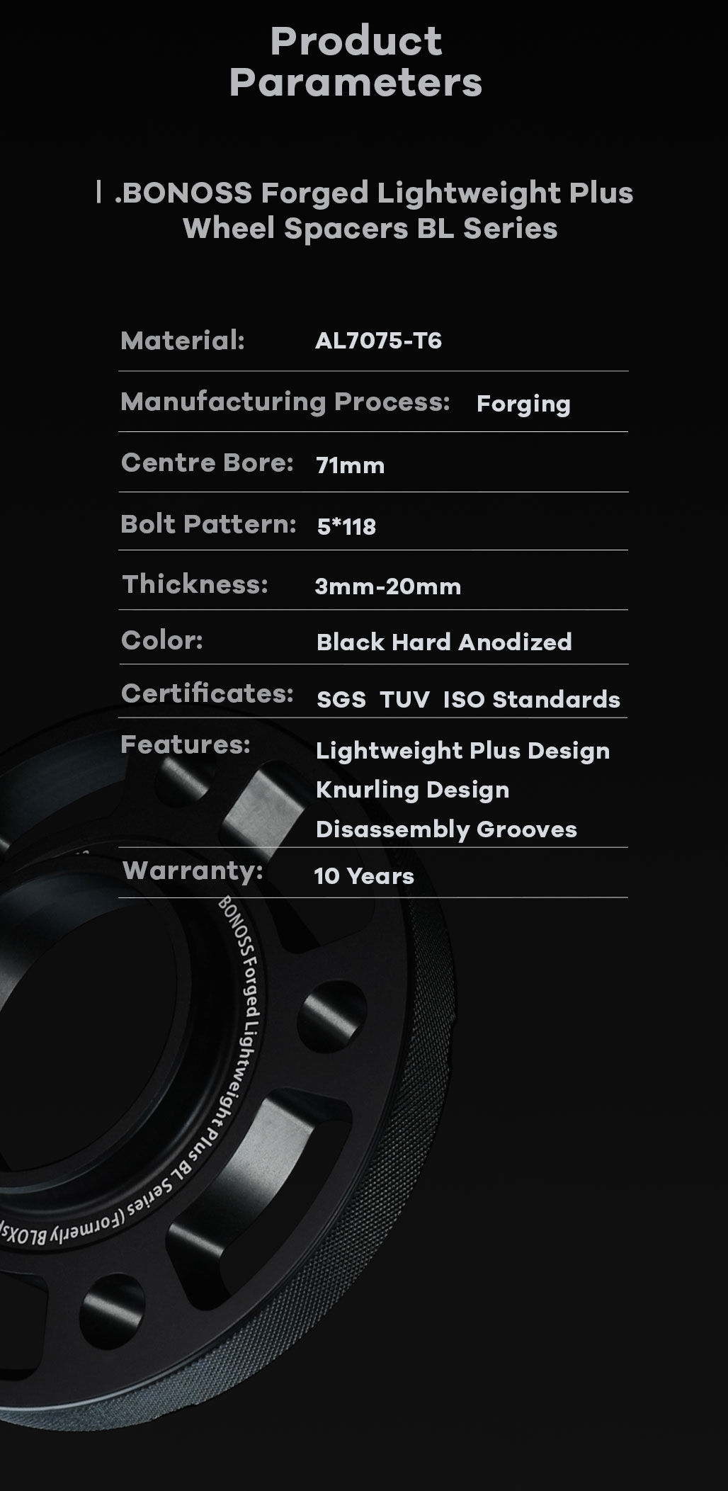 BONOSS-forged-lightweight-plus-wheel-spacer-for-Opel-Vivaro-A-5x118-71-14x1.5-7075t6-by-grace-2
