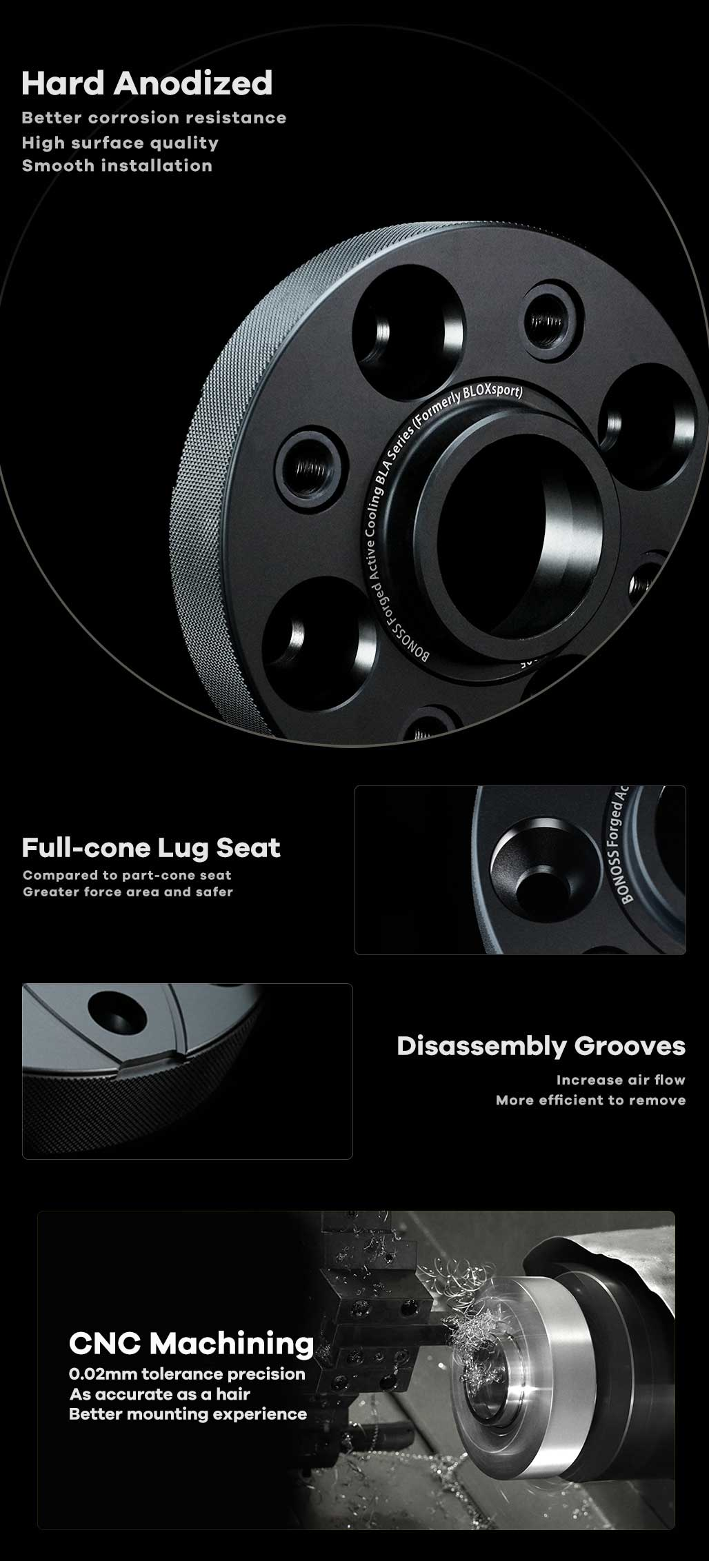 BONOSS-forged-active-cooling-4-Lug-Hubcentric-wheel-spacers-(custom-wheel-spacers)-by-lulu-3