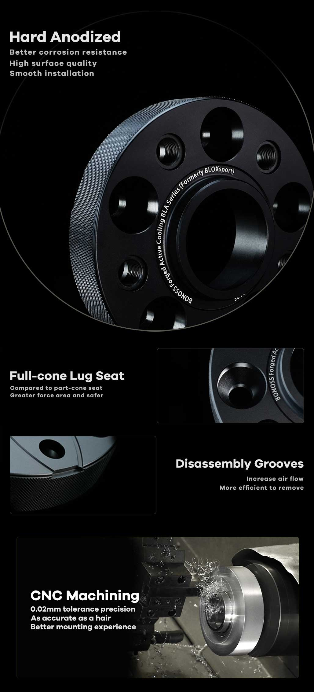 BONOSS-forged-active-cooling-wheel-spacer-Mercedes-Cclass-w205-w204-5x112-66.5-M14x1.5-6061T6-by-grace-2