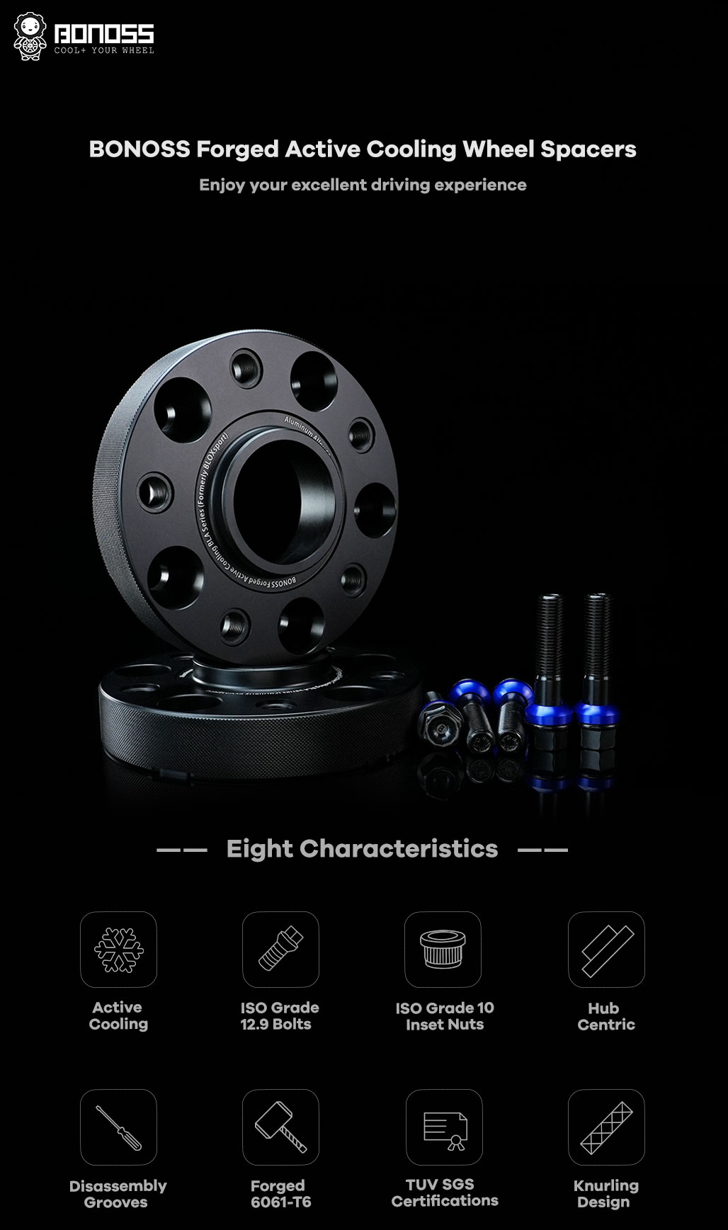 BONOSS-forged-active-cooling-wheel-spacer-Mercedes-W463-5x130-84.1-M14x1.5-6061T6-by-grace-1