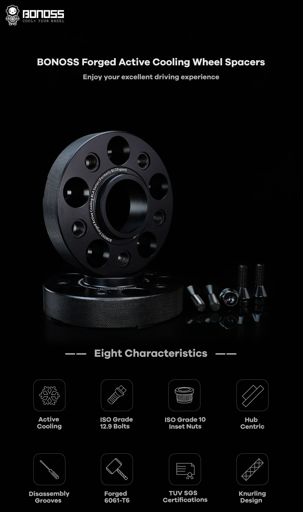 BONOSS-forged-active-cooling-wheel-spacer-OPEL-Grandland-X-5x108-65.1-M12x1.25-6061T6-by-grace-3