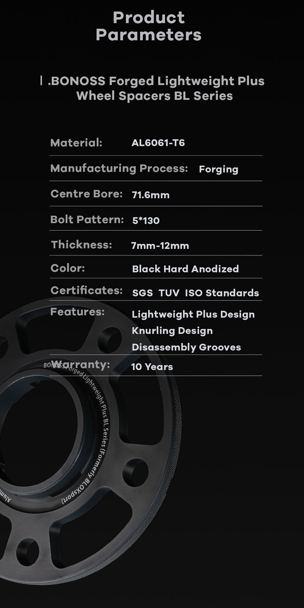 BONOSS-forged-lightweight-plus-5petals-special-hubcentric-wheel-spacer-for-Porsche-Taycan-5x130-71.6-14x1.5-6061t6-by-grace-5