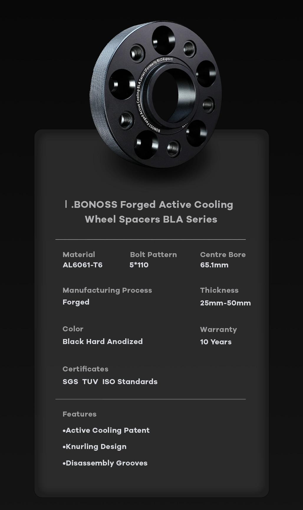 BONOSS-forged-lightweight-plus-wheel-spacer-SAAB-9-3-5x110-65.1-6061T6-M14x1.5-grace-1