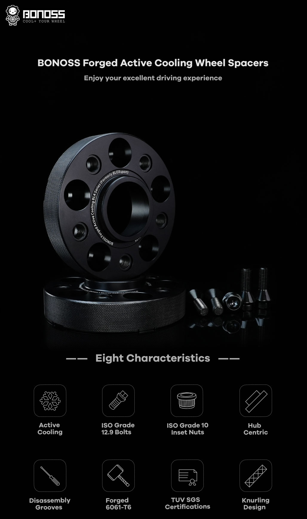 BONOSS-forged-lightweight-plus-wheel-spacer-for-Mercedes-Benz-W168-5x112-66.5-12x1.5-6061t6-by-grace-1