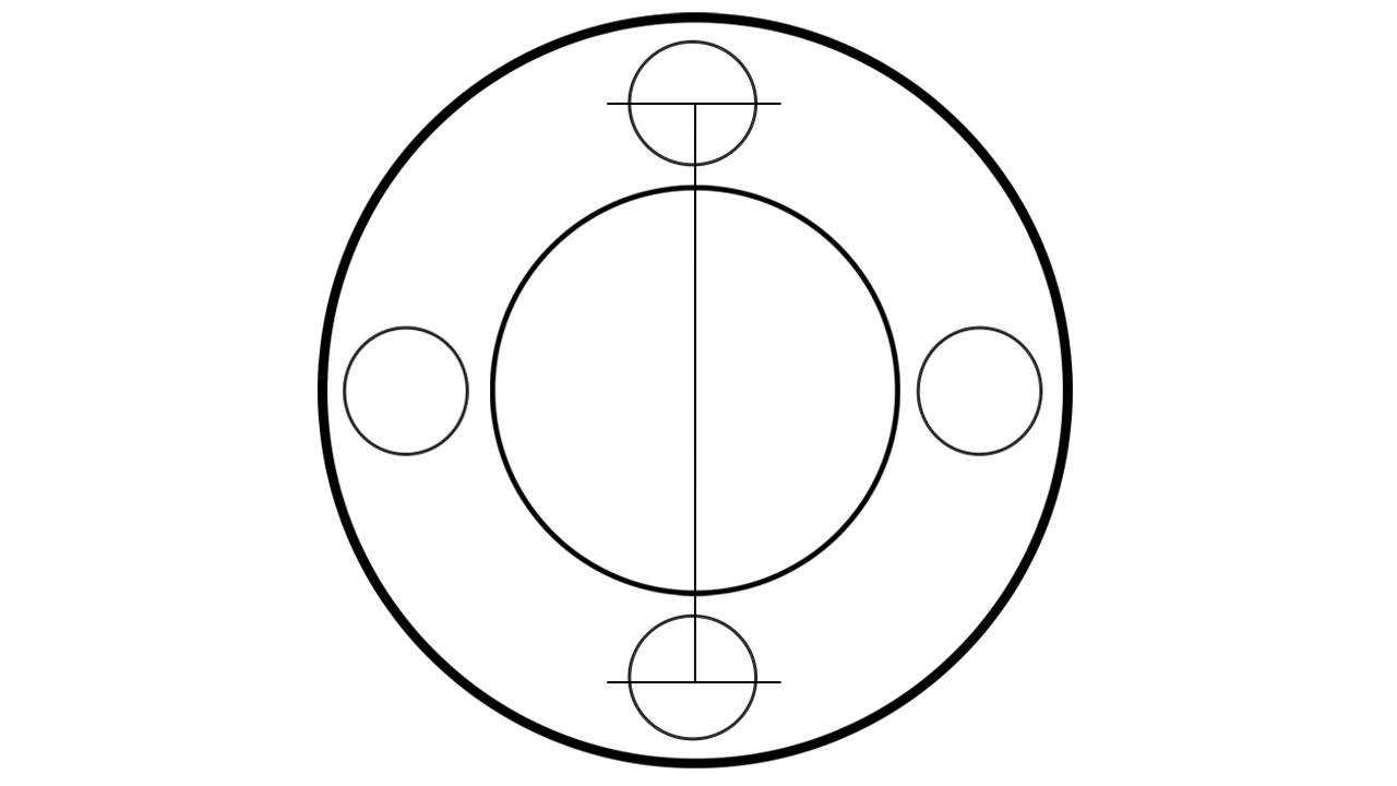 How to measure BONOSS 4 lug wheel spacers bolt pattern