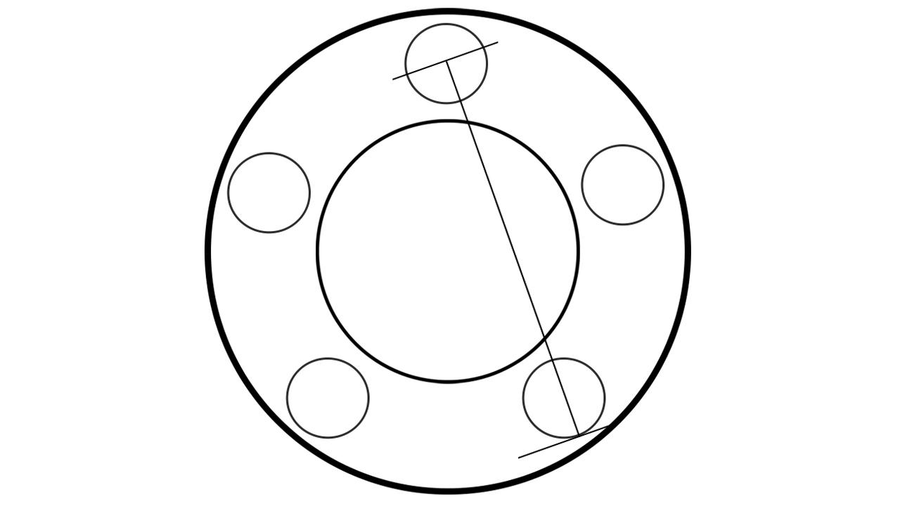 How to measure BONOSS 5 lug wheel spacers bolt pattern