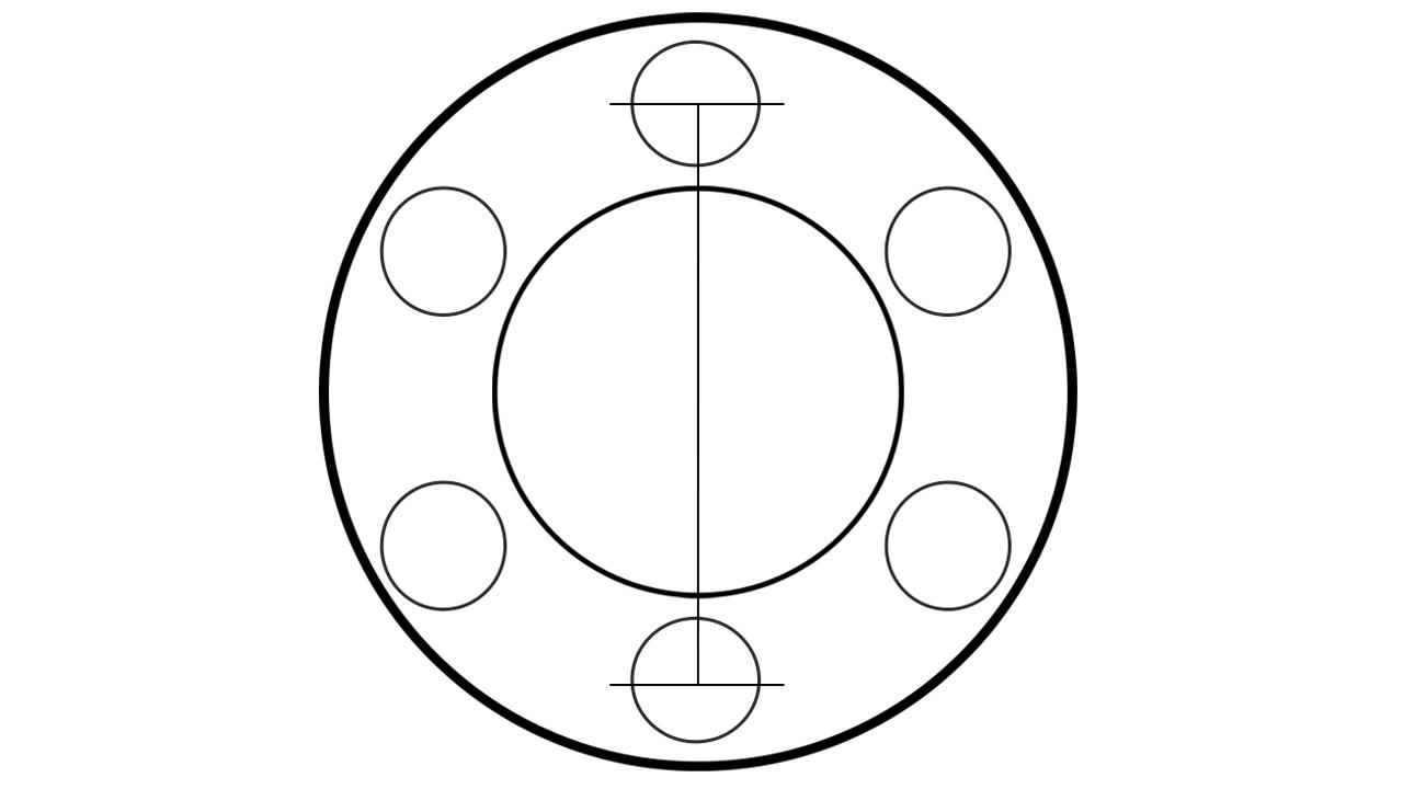 How to measure BONOSS 6 lug wheel spacers bolt pattern