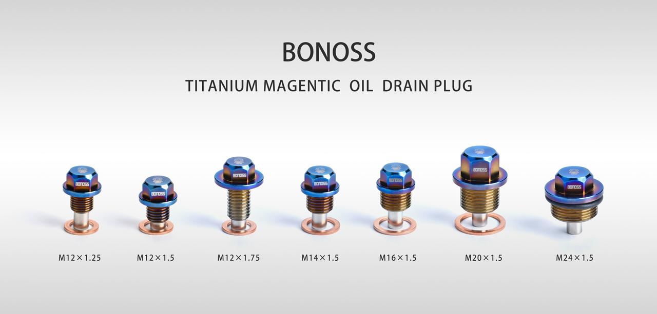 BONOSS Forged Titanium Magnetic Drain Plugs Bolt Kit High Performance and Quality